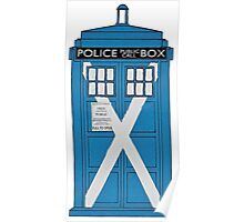 Scottish TARDIS. Poster