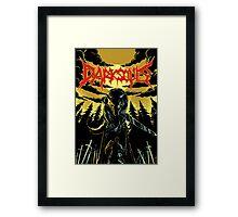Unofficial Dark Souls Metal Band Poster Framed Print
