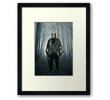 Jason  From Friday the 13th Cosplay Framed Print
