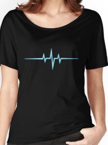 Music Pulse, Frequency, Wave, Sound, Abstract, Techno, Rave Women's Relaxed Fit T-Shirt