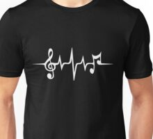 Music Pulse, Notes, Clef, Frequency, Wave, Sound, Dance Unisex T-Shirt
