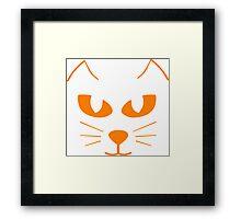 Cat's Face Framed Print