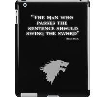 Game of Thrones - House Stark - Eddard Stark iPad Case/Skin
