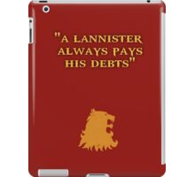 Game of Thrones - House Lannister iPad Case/Skin