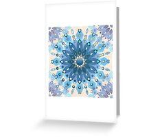 Frozen Mandala Flower Greeting Card