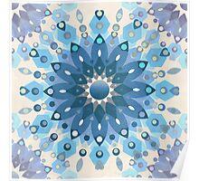 Frozen Mandala Flower Poster