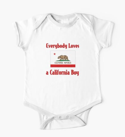 Everybody Loves a California Boy One Piece - Short Sleeve