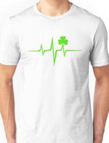 Music Pulse Irish, Frequency, Wave, Sound, Shamrock Unisex T-Shirt
