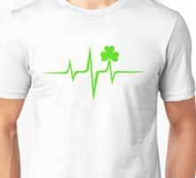 Music Pulse Irish, Frequency, Wave, Sound, Shamrock Unisex T-Shirt