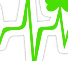 Music Pulse Irish, Frequency, Wave, Sound, Shamrock Sticker