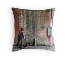 Salford to Manchester Train Arch Bus Stop Drinkers Throw Pillow