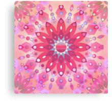 Tropical Pink Floral Mandala Canvas Print