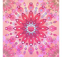 Tropical Pink Floral Mandala Photographic Print