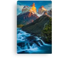 Los Cuernos Falls Canvas Print