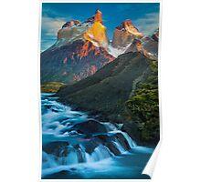 Los Cuernos Falls Poster