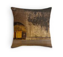 Manchester Tunnel with Orange Bins Throw Pillow