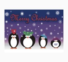 Christmas Penguins One Piece - Short Sleeve
