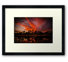 Yornaning Sunset Framed Print