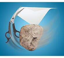 Rock, Paper, Scissors Photographic Print