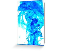 Blue ink Greeting Card