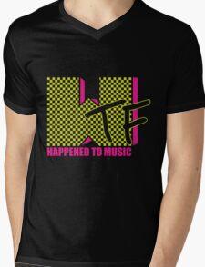Flourescent WTF Happened Mens V-Neck T-Shirt