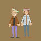 Sam & Dean flower crown by onelasttrick