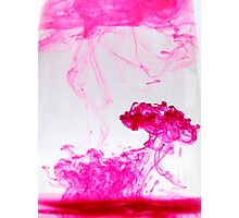 Pink ink Photographic Print