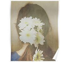 She Had Flowers in Her Hair - Dreamy White Version Poster