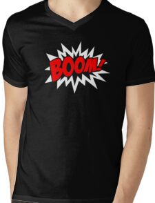 COMIC BOOM, Speech Bubble, Comic Book Explosion, Cartoon Mens V-Neck T-Shirt