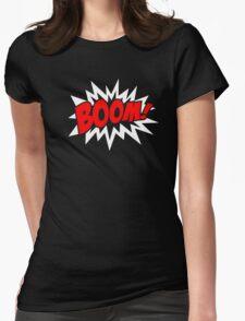 COMIC BOOM, Speech Bubble, Comic Book Explosion, Cartoon Womens Fitted T-Shirt