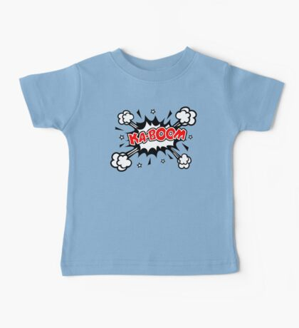 COMIC KA-BOOM, Speech Bubble, Comic Book Explosion, Cartoon Baby Tee