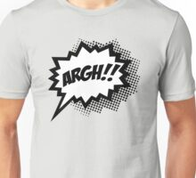 COMIC ARGH! Speech Bubble, Comic Book Explosion, Cartoon Unisex T-Shirt
