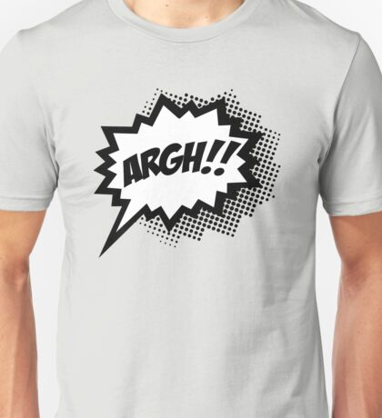 COMIC ARGH! Speech Bubble, Comic Book Explosion, Cartoon Unisex T-Shirt