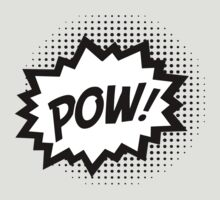 COMIC POW! Speech Bubble, Comic Book Explosion, Cartoon by boom-art