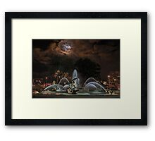 Full Moon at the J C Nichols Fountain Framed Print