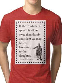 The Drastic Results of Silenced Speech Tri-blend T-Shirt