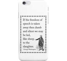 The Drastic Results of Silenced Speech iPhone Case/Skin
