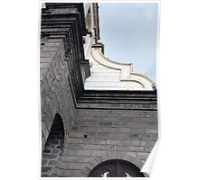 Facade of La Matriz Church Poster