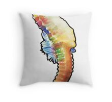 Psychedelic Seahorse Throw Pillow