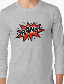 COMIC BANG! Speech Bubble, Comic Book Explosion, Cartoon Long Sleeve T-Shirt
