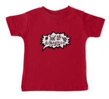 COMIC CURSES! Skull, Speech Bubble, Comic Book Explosion, Cartoon Baby Tee