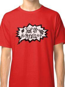 COMIC CURSES! Skull, Speech Bubble, Comic Book Explosion, Cartoon Classic T-Shirt