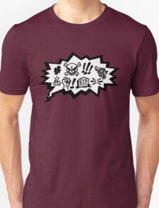 COMIC CURSES! Skull, Speech Bubble, Comic Book Explosion, Cartoon T-Shirt