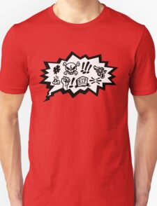 COMIC CURSES! Skull, Speech Bubble, Comic Book Explosion, Cartoon T-Shirt