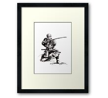 Samurai art print samurai sword japan poster japan photography japan style japan wall decor samurai poster printable japanese art sumi-e Framed Print