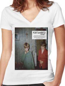Portamento album cover Women's Fitted V-Neck T-Shirt