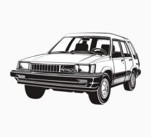 Toyota Tercel 4WD illustration by Robin Lund