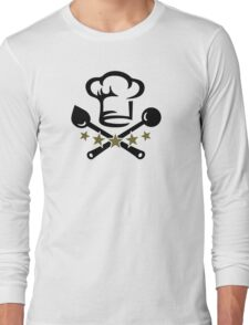 Chef Cook Hat, Cooking, Kitchen, Hotel, Restaurant Long Sleeve T-Shirt