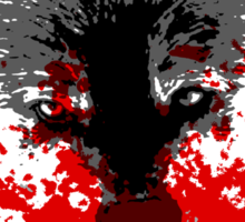 Angry Blood Wolf Sticker