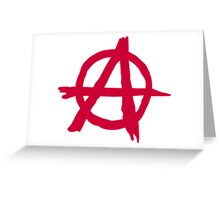 Anarchy Symbol Greeting Card